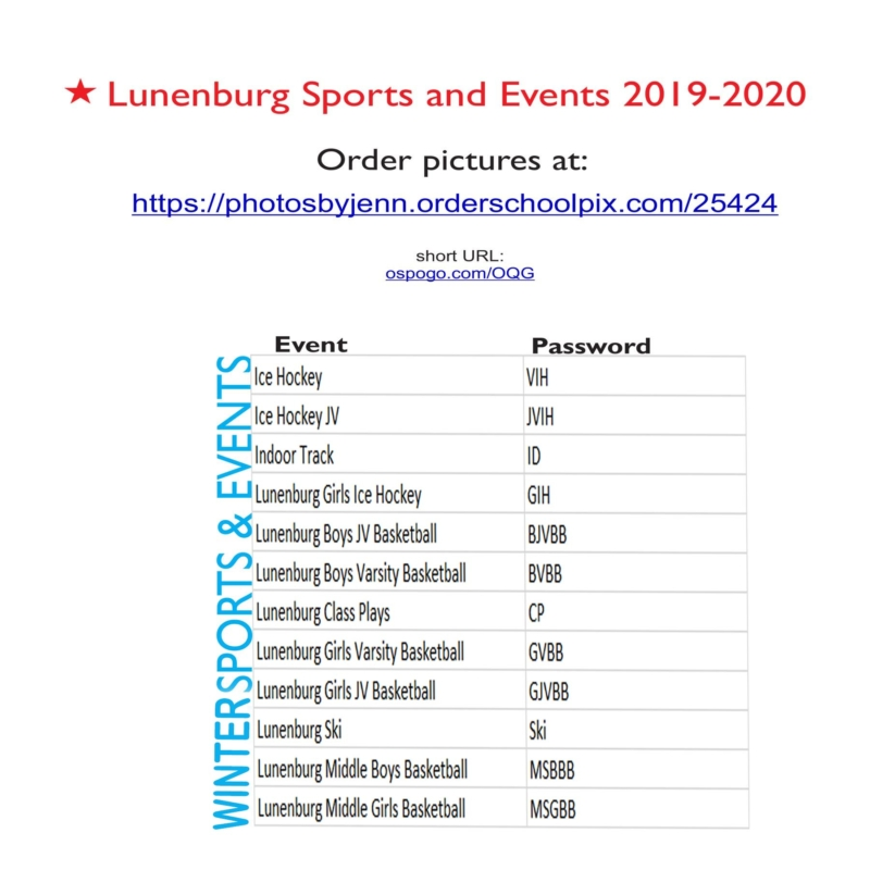 LHS  Passwords for Sports & Events 2019-2020